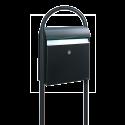 MEFA Jade 870 RAL 9005 med klap i rustfri stål på stander 28