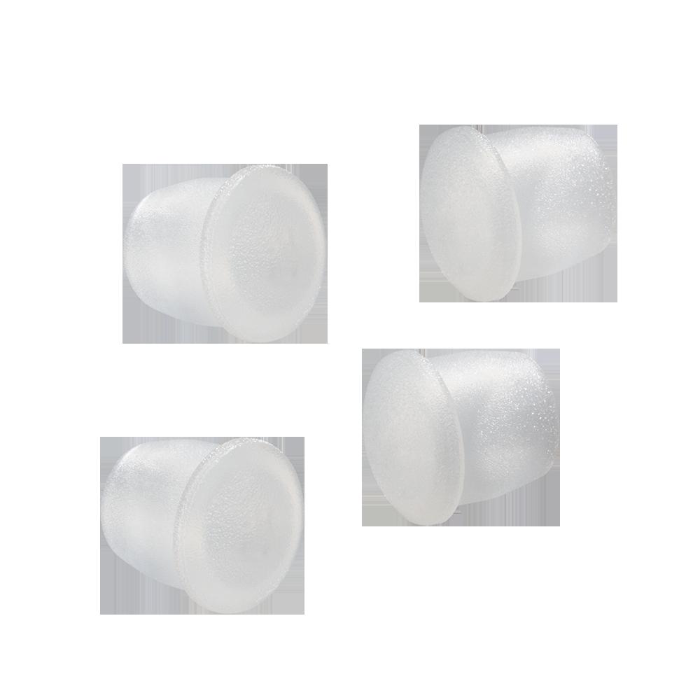 Hvide plastpropper til postkasse