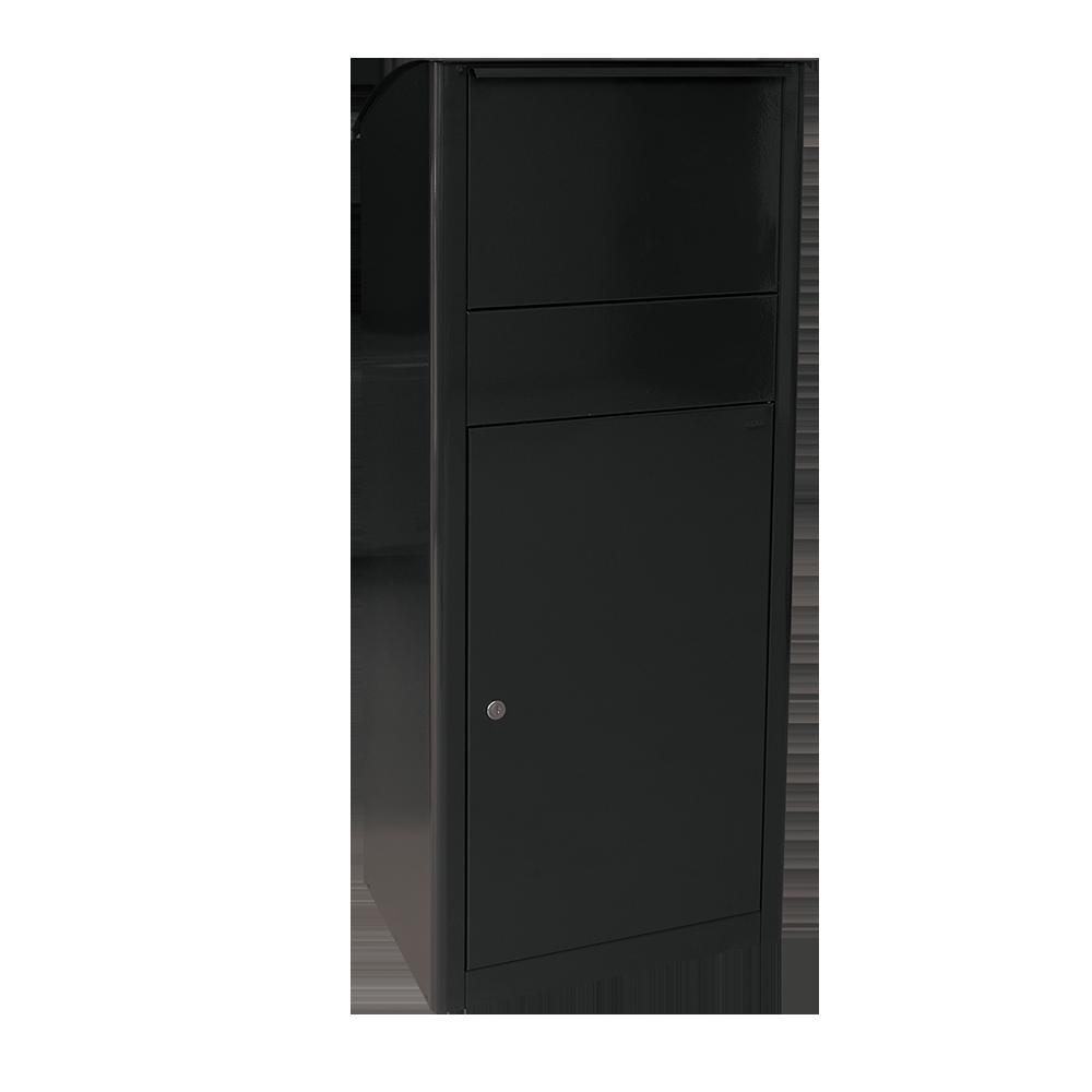 sehr praktisch und ger umig paketkasten mit rutsche f r gro e pakete. Black Bedroom Furniture Sets. Home Design Ideas